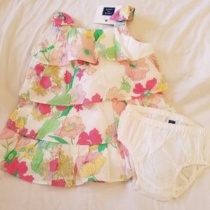NWT-JANIE and JACK-Tiered Floral Sundress & Blmr